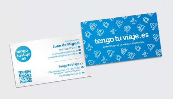 Diseño de tarjetas corporativas y papelería, folletos, trípticos y dípticos y catálogos para negocios y empresas, en navarra, pamplona, Iruña.