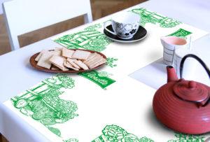 Diseño gráfico films packaging manteles soportes corporativos de merchandising envoltorios de producto embalajes Florette España Navarra Pamplona