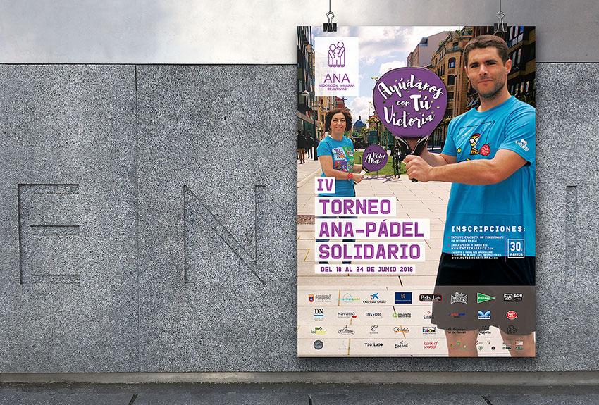 Campaña de publicidad y comunicación de torneo de padel en medios en Navarra en el cetro de Pamplona difusión y diseño de grafica para periódicos campaña en prensa Diario de Navarra y Diario de Noticias y otros medios locales.