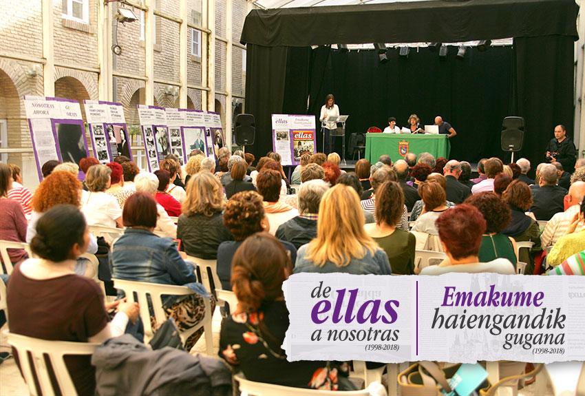 Presentación-acto- libro-ellas-mujeres-pamplona-navarra-xx aniversario-memoria de las mujeres-iruñeko-emakumeen-de-ellas-a-nosotras.