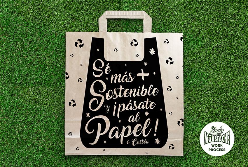 Diseño de bolsas de papel para establecimientos comerciales. Desarrollamos la imagen de sus tiendas y establecimientos con todas las aplicaciones que necesite, bolsas, papel de regalo corporativo, diseño de etiquetas, envoltorios, facturas y otros soportes. Estamos situados en Pamplona Navarra, España.