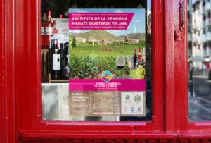 Diseño gráfico de imagen de campaña para festival enológico de Navarra Pamplona. Somos un estudio de publicidad y comunicación situado en el centro de la ciudad de Iruña. Realizamos logotipos, diseño gráfico, páginas web con un enfoque publicitario.