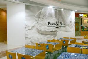 Diseño de imagen corporativa y logotipos para establecimientos comerciales, diseño y rotulación de interiores para franquicias, diseño de cartas de restaurantes, diseño grafico para franquicias y tiendas de ropa y grandes superficies. Corporativismo y diseño de marcas para franquicias en España, Navarra Pamplona.