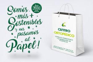 Diseñamos aplicaciones corporativas ecológicas para empresas y negocios comerciales en Pamplona Navarra. Bolsas de papel en Navarra. Diseño gráfico en Pamplona.