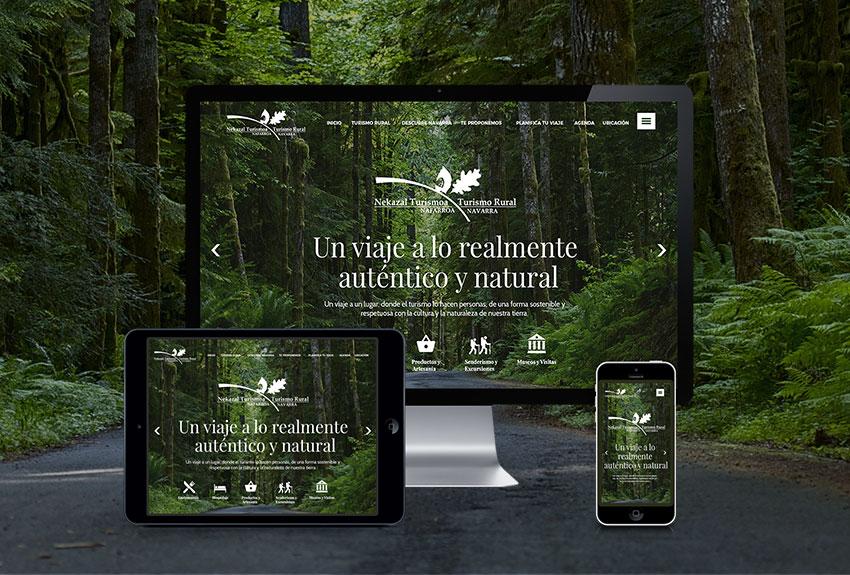 Diseño y desarrollo de páginas web en Pamplona Navarra. Especializados en Webs de Turismo sostenible y diferenciado.