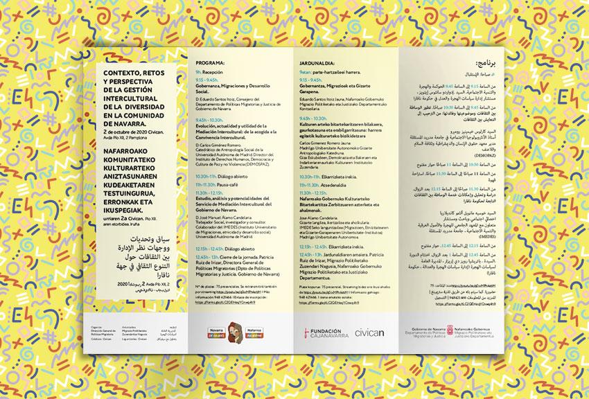 Campaña de publicidad para Gobierno de Navarra Gobierno Vasco especialización para congresos jornadas y eventos