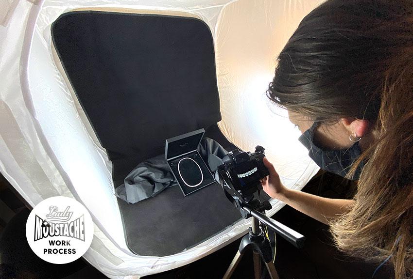 Realización de fotografía de producto de estudio en campañas de publicidad y comunicación de joyeria en pamplona Navarra