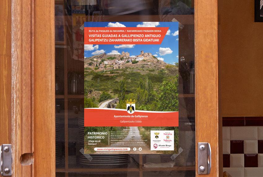 Diseño de carteles y gráficas para la promoción de eventos turísticos para ayuntamientos de navarra y pamplona agencia de publicidad y comunicación